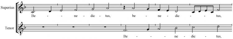 Josquin Sanctus-benedictus