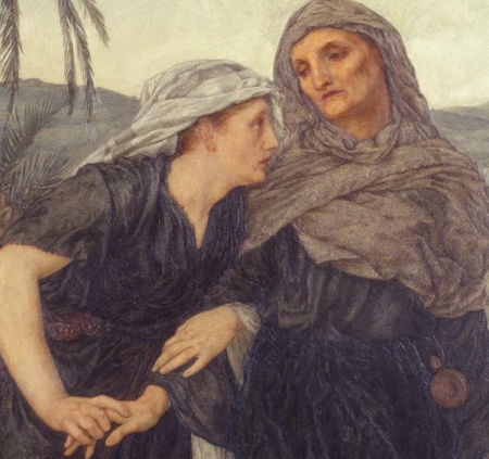 Thomas Matthews Rooke: Ruth and Naomi. 1876-7. Detail.