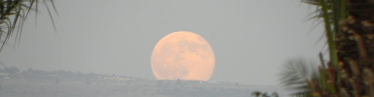 Full moon rising in Nazareth, photo by nellm